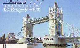 Télécarte Japon ANGLETERRE (297) GREAT BRITAIN Related * ENGLAND Phonecard Japan * TOWER BRIDGE * LONDON - Landscapes