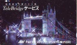 Télécarte Japon ANGLETERRE (298) GREAT BRITAIN Related * ENGLAND Phonecard Japan * TOWER BRIDGE * LONDON - Landscapes