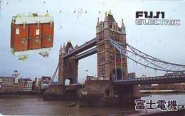 Télécarte Japon ANGLETERRE (299) GREAT BRITAIN Related * ENGLAND Phonecard Japan * TOWER BRIDGE * LONDON - Paysages