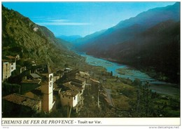 Photo Cpsm Cpm 06 TOUET-SUR-VAR. Chemin De Fer De Provence 1984 - Autres Communes