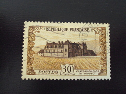 """1951   -timbre Oblitéré N°   913  """"  Clos Vougeot    """"    Côte       3       Net      1 - Frankreich"""