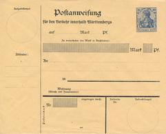 Deutsches Reich  -  1907 ,  Postanweisung-Umschlag  Innerhalb Wuerttembergs - Alemania