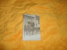 CARTE POSTALE PHOTO ANCIENNE CIRCULEE DE 1915. / M. GAVIN....CHEVAUX ATTELAGE... - Commerce