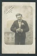 RANSART. (Charleroi)  J.B. Piette. Chanteur De Genre. Très Rare Photo-carte. - Charleroi