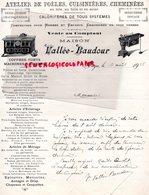 BELGIQUE- AANGRE- RARE FACTURE VALLEE BAUDOUR- ATELIER POELES CUISINIERES-FERBLANTERIE CHAUDRONNERIE-COFFRES FORTS-1925 - Old Professions