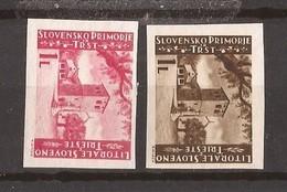 1945  IV-V    JUGOSLAVIA TRIESTE B ITALIA SLOVENIA LITORALE ISTRIA DENT- IMPERF  MNH - 9. WW II Occupation (Italian)
