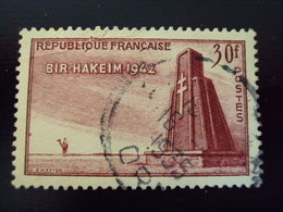 """1952   -timbre Oblitéré N° 925    """"  Bir Hakeim    """"    Côte         2.50     Net   0.85 - Frankreich"""