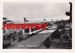 LIGNANO - LUNGOMARE F/GRANDE VIAGGIATA 1953 ANIMATA - Udine