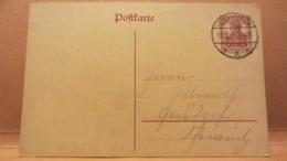 DR: GA Postkarte Mit 15 Pf Germania Von LOMMATZSCH (Sachsen) Nach Gersdorf Vom 12.2.20 Knr:  P 116 I - Deutschland
