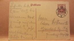DR: GA Postkarte Mit 15 Pf Germania Von GLAUCHAU Nach Gersdorf Vom 3.3.20 Knr:  P 116 I - Deutschland