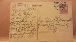 DR: GA Postkarte Mit 15 Pf Germania Von LAUBEGAST Nach Gersdorf (Bez. Chemnitz) Vom 8.4.20 Knr:  P 116 I - Deutschland