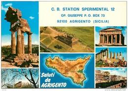 Photo Cpsm Cpm Italie Italia. Agrigento Carte Radio Amateur 1978 - Italie