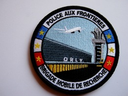ECUSSON TISSUS PATCH POLICE PAF ORLY LA BMR ETAT EXCELLENT SUR VELCROS - Police & Gendarmerie
