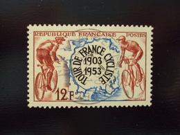 """1953   -timbre Oblitéré N°   955  """"    Tour De France 1903-1953  """"    Côte      1.6        Net      0.55 - Frankreich"""