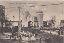 POSTCARD SPAIN ESPAÑA - BADAJOZ - PLAZA DE ALFONSO XIII Y PUERTA DE LAS PALMAS - Badajoz