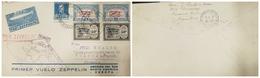 O) 1930 ARGENTINA, ZEPPELIN FIRST FLIGHT -POR ZEPPELIN- PANAMERICA -PRIMER VUELO ZEPPELIN, OVERPRINTED ZEPPELIN 1er VUEL - Covers & Documents