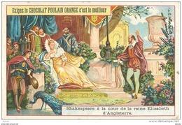 Chromo Chocolat POULAIN * Shakespeare à La Cour De La Reine D'Angleterre * Série N°9 Sur 25 Sujets - Poulain