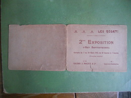 CARTON INVITATION  LES ROSATI VERNISSAGE 2ieme EXPOSITION D ART SEPTENTRIONAL GALERIE J MOLEUX PARIS ETAT MOYEN VOIR SCA - Programmes