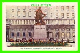 QUÉBEC - MONUMENT JACQUES-CARTIER - ANIMÉE DE VIEILLES VOITURES - CIRCULÉ EN 1984 - LORENZO AUDET ENR. - - Québec - La Cité