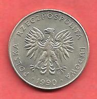20 Zlotych , Cupro-Nickel , 1990 , N° KM # 153.2 - Pologne