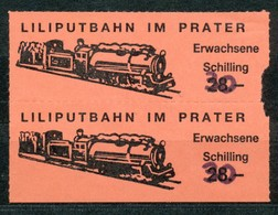 Österreich - Liliputbahn Im Wiener Prater - Fahrkarte S 30 Für Erwachsenen. - Bahn