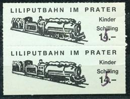 Österreich - Liliputbahn Im Wiener Prater - Fahrkarte S 15 Für Kinder - Bahn
