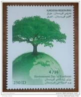 Raq KURDISTAN REGION 2015 MNH Stamp - Environment Day - Tree - Green Earth - Iraq