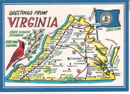 USA031 CPMGF - GREETING FROM VIRGINIA - Etats-Unis