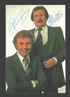Gaston Berghmans En Leo Martin - Originele Handtekening - Gaston En Leo - Autographes