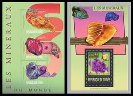 Guinea 2013 Minerals  Klb+s/s MNH - Mineralen