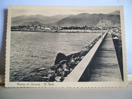 1961 - Marina Di Carrara - Massa - Il Molo - Panorama Dal Mare -  Cartolina Originale - Ed. Ellebici - Carrara