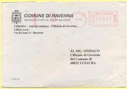 ITALIA - ITALY - ITALIE - 2002 - 00,41 EMA, Red Cancel - Comune Di Ravenna, Medaglia D'Oro Al Valor Militare - Viaggiata - Affrancature Meccaniche Rosse (EMA)