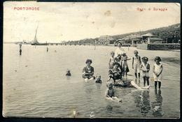 Portorose _1, Portoroze, 1909, Bagni Di Spiaggia, Piran, Adria, Guido Castalunga, Pola - Slowenien
