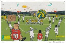 EGYPT - Football(t), Menatel Transparent Telecard, CN : 335, Used - Egypt