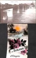 Ougrée - Lot 2 Cartes  - Le Pont (en Travaux) & Un Bonjour D' (1957) - Seraing