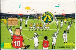 EGYPT - Football(t), Menatel Transparent Telecard, CN : 334, Used - Egypt
