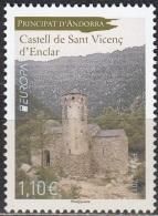 Andorre Français 2017 Europa CEPT Château De Sant Vicenç D'Enclar Neuf ** - Andorre Français