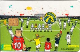 EGYPT - Football(e), Menatel Transparent Telecard, CN : 334, Used - Egypt