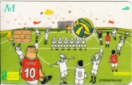 EGYPT - Football(M), Menatel Transparent Telecard, CN : 335, Used - Egypt