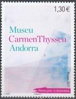 Andorre Français 2017 Musée Carmen Thyssen Neuf ** - Andorre Français