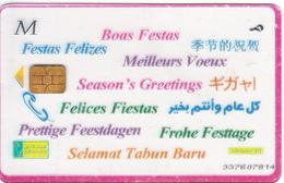 "EGYPT - Season""s Greetings(M), Menatel Transparent Telecard, CN : 337, Used - Egypt"