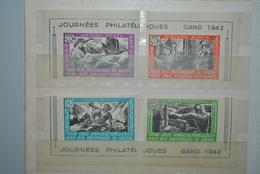Belgique 1942 Vignettes Journées Philatéliques Gand MH - Erinnophilie
