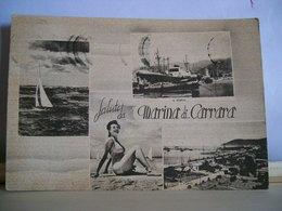 1963 - Saluti Da Marina Di Carrara - Vedute - Il Porto - Giardini - Veliero - Pin-Up Ragazza - Bella Cartolina Originale - Saluti Da.../ Gruss Aus...