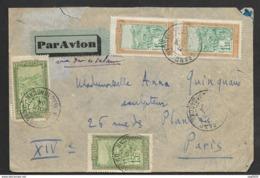 Madagascar-Enveloppe De Vangaindrano Pour Paris - Madagascar (1889-1960)