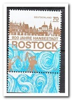 Duitsland 2018, Postfris MNH, 800 Years Hanseatic City Rostock - Ongebruikt