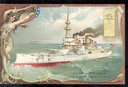 Amerika America USA - Das Kriegsschiff Oregon - Bulldogge Der Amerikanische Marine   - 1915 - Verenigde Staten