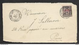 Levant-N°4 Sur Devant D'enveloppe-Oblitéré Constantinople Galata Turquie - Levant (1885-1946)