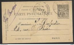 Carte Pneumatique-Cachet Paris 6 Vaugirard - Postmark Collection (Covers)