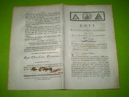 An 2: Assignats Royaux 5 & 10 Livres. Assignats Démonétisés. Assignats Pour Biens Nationaux... Certifié Pont L'Evêque - Décrets & Lois
