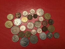 LOT DE 30 PIÈCES ÉTRANGÈRES Voir Le Scan - Kiloware - Münzen